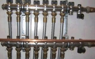 Монтаж коллектора водоснабжения