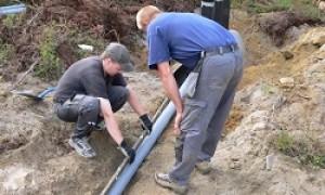 Подключение к водопроводу частного дома