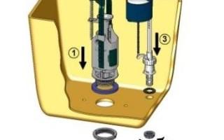 Как поменять арматуру в бачке унитаза