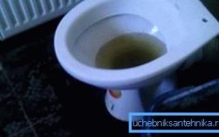 Что делать если в унитазе поднимается вода